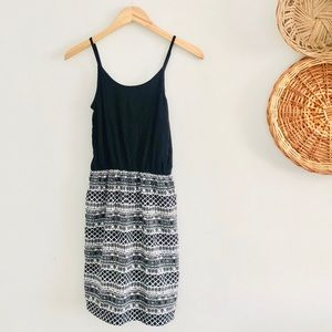 Charming Charlie Black Geometric Mini Dress